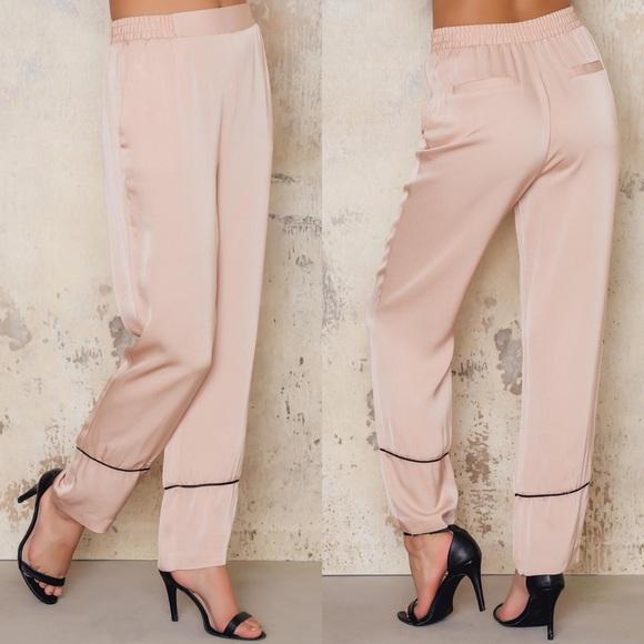 d7fcb4be37 NA-KD Pants | Nakd Womens Contrast Dusty Light Pink | Poshmark